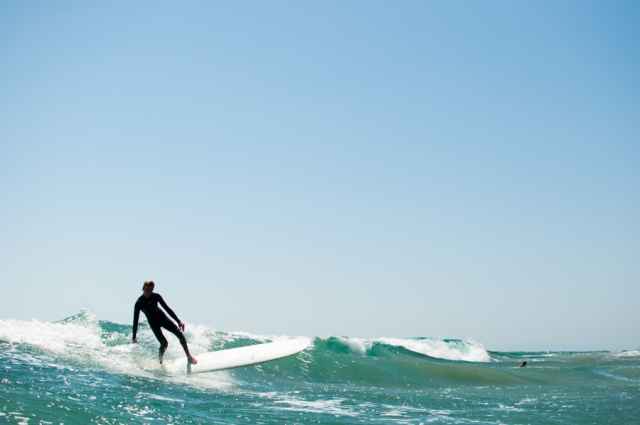 Thomas Green snapped this photo of Dane Flinn fading left on his 9'2 Surf Thump.